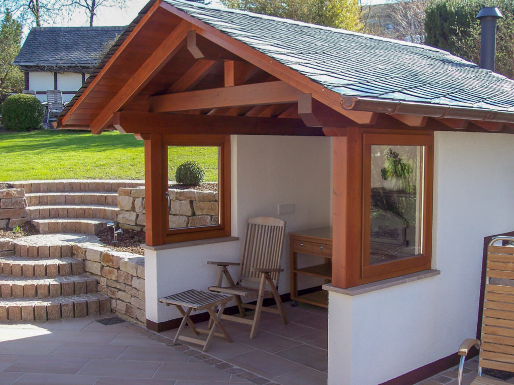 Holz im Garten Holzüberdachung Holzmöbel Möbel aus Holz Möbel nach Maß Massivholzmöbel Massivholz Vollholzmöbel
