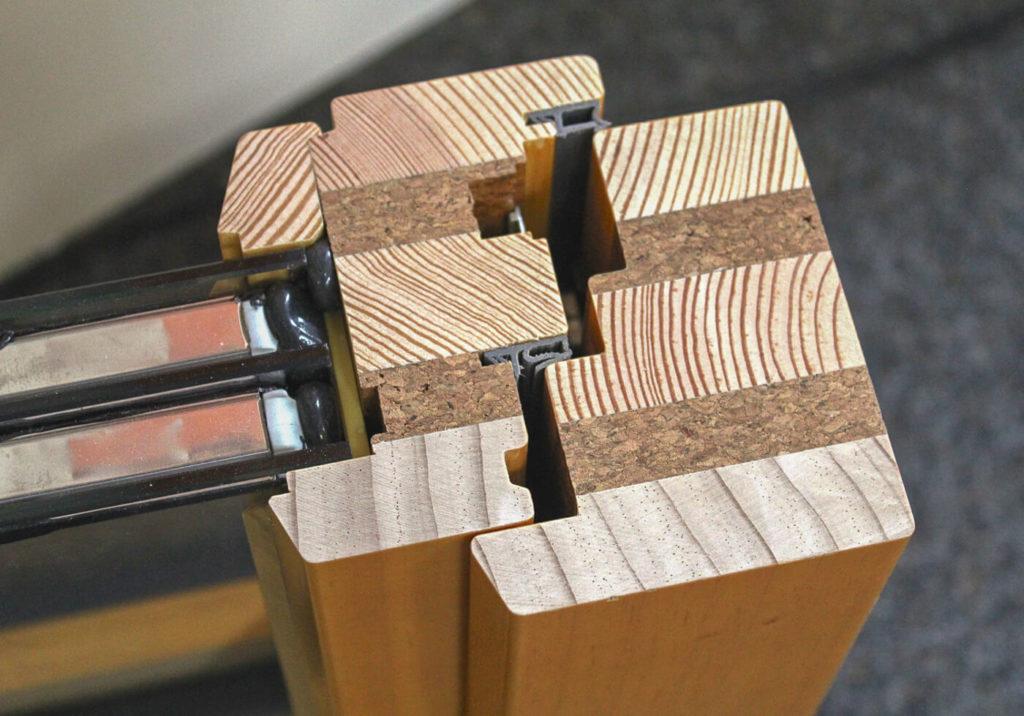 Einbruchsicher Holzfenster Fenster Holz nach Maß Fenster Querschnitt